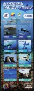 HERRICKSTAMP NEW ISSUES ECUADOR Sc.# 2200 Wolf Sanctuary Marine Life Booklet