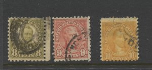 STAMP STATION PERTH US. #589-591 Used