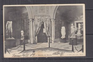 TUNISIA, 1902 ppc. Bardo, Museum, 5c. Tunis to Austria.