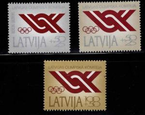 Latvia #B150-B152 MNH CV$2.65 National Olympic Committee [STOCK IMAGE] [57499]