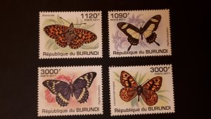 Burundi 2011. - Butterflies ** MNH complete set (perforated)