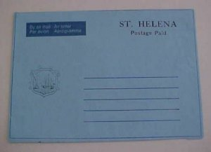 ST. HELENA  AIR LETTER POSTAGE PAID