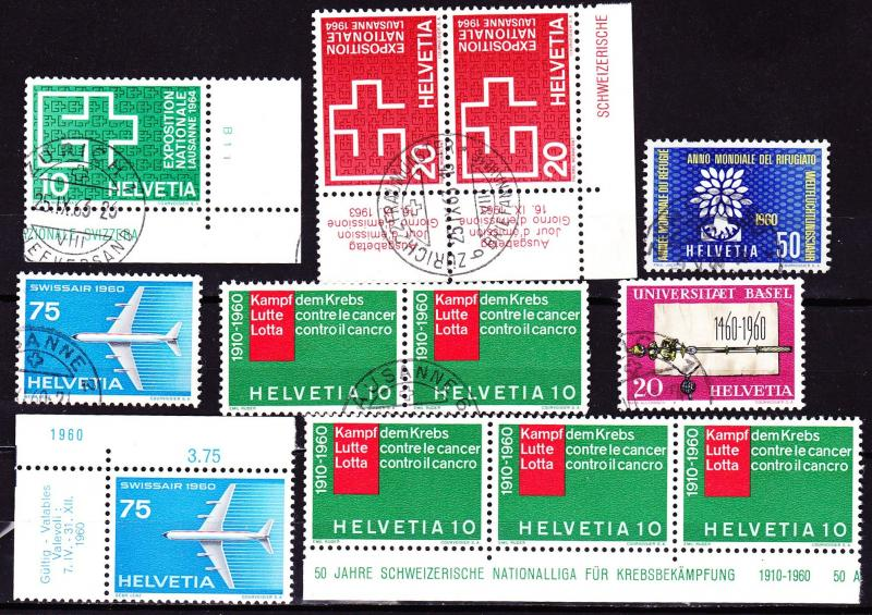 Switzerland 1960, sets (corners)