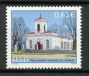 Estonia Churches Stamps 2020 MNH St Nicholas Church Paldiski Architecture 1v Set