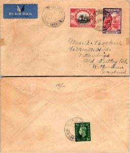 1937 BERMUDA MULTI STAMP TO ENGLAND, 1937
