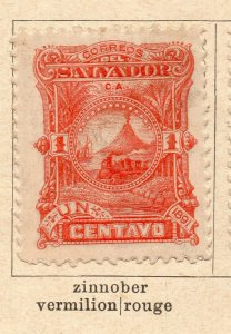 Salvador 1891 Early Issue Fine Mint Hinged 1c. NW-11842