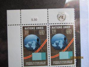 U.N. Geneva Scott# 58 Inscription block of 4