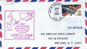 1983, 1st Flt., New York, NY to Taipei, China, See Remark (28156)