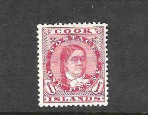 COOK IS 1909 1d MAKEA MNH  SG 38