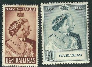 Bahrain 62-63 SG 61-62 Silver Wedding MNH VF 1949 SCV $38.50