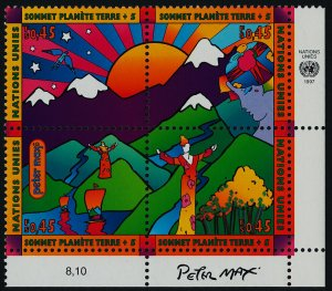 United Nations - Geneva 305a BR Block MNH Earth Summit, Art