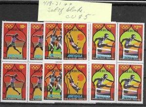 Antigua #418-421 MNH - Block Set - CAT VALUE $5.00