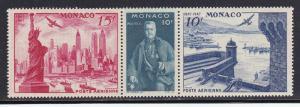 Monaco # C20a, Statue of Liberty, Mint NH, 1/2 Cat