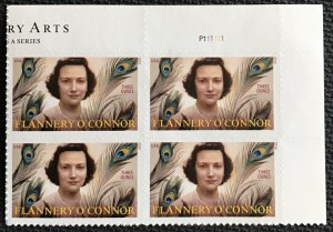US #5003 MNH UR Plate Block of 4 Flannery O'Connor (.93) SCV $7.60
