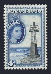 Cayman 142,lightly hinged.Michel 143. QE II,1953.Lighthouse.