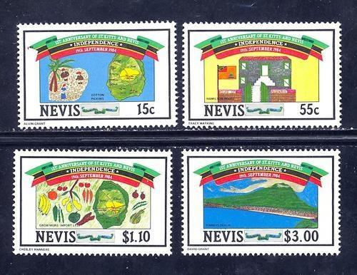 Nevis MNH 379-82 Independence SCV 1.45