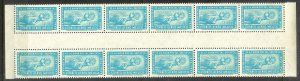 MEXICO Sc#C204 Gutter Block Strip of 12 stamps MINT NEVER HINGED