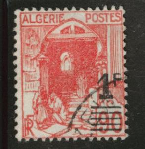 ALGERIA Scott 131 used 1fr overprint 1939