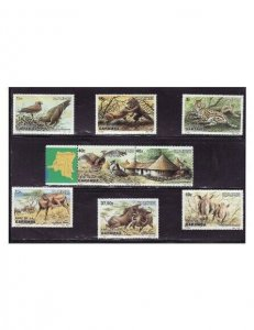 Zaire - Animals & Birds - 8 Stamp  Set  - 1131-8