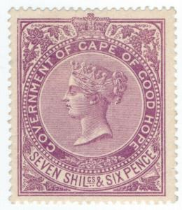 (I.B) Cape of Good Hope Revenue : Duty Stamp 7/6d