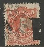 ARGENTINA 30a VFU INVERTED OVPT. SHIFTED 254A