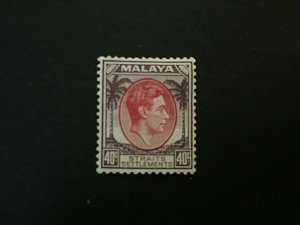 Straits Settlement: 1937 40c Scarlet and dull purple, SG 288, MLH