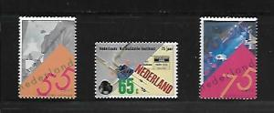 NETHERLANDS, 792-94, MNH, SCIENTIFIC EXPERIMENTS, ELECTRICAL WIRING, LASER VI...