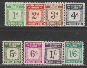 Solomon Islands   SC J1-8  Mint  Hinged