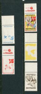 1954 France Christmas Seals Greens #37 Plus PCP (Proof Set) MNH