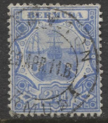 Bermuda - Scott 38 - Caravel - Wmk 3 -1906 - VFU -Single 2.1/2p Stamp