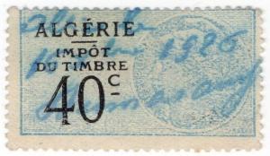 (I.B) France Colonial Revenue : Algeria Duty 40c