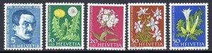 SWEDEN B298-B302 MH SCV $8.00 BIN $4.00 FLOWERS