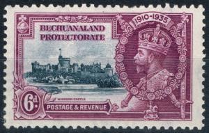 Bechuanaland 1935 6d Slate & Purple SG114b Short Extra Flagstaff V.F MNH
