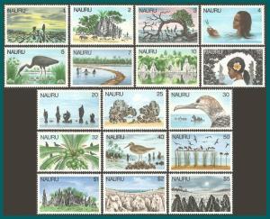 Nauru 1978 Definitives, MNH #165-181,SG174-SG190