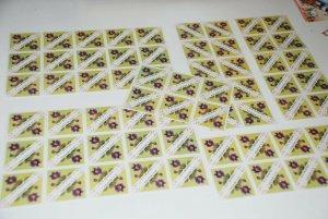 TRIANGULAR 128 x MNH STAMPS - 30k - FLOWERS - CROATIA 1952, Dealer Lot