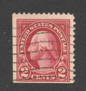 US#634d Carmine - Type I - Single from Booklet