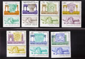 ISRAEL Scott 1014-1020 MNH** Archeology stamp  set with tabs