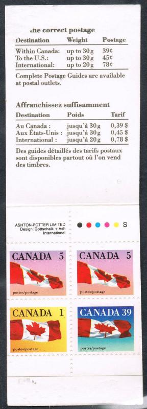 Canada BK111A 50c Vending Booklet - Slater Paper - Perf. 12.5 x 13.0 - VF-75 NH