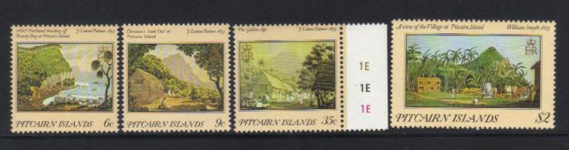 PITCAIRN ISLANDS 1985 19th CENT PAINTINGS MNH SET OF 4
