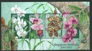 SINGAPORE SGMS948 1998 ORCHIDS SINGAPORE/AUSTRALIA JOINT ISSUE   MNH