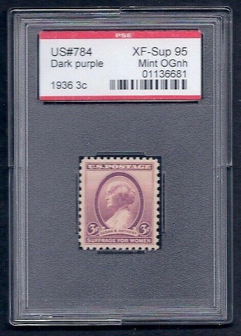 MALACK 784 XF-SUPERB OG NH, w/PSE (GRADED 95, ENCAPSULATED), gg0130