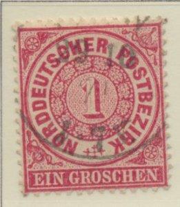 North German Confederation Stamp Scott #16, Used - Free U.S. Shipping, Free W...