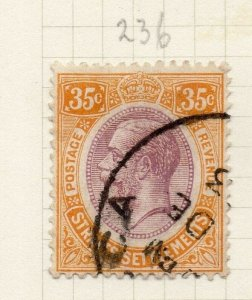 Malaya Straights Settlements 1921 Early Issue Fine Used 35c. 280888