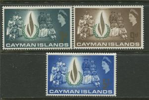 Cayman Islands - Scott 197-99 - Human Rights -1968 - MLH- Set of 3  Stamp