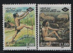 SRI LANKA 1107-1108, Hinged,1994 Intl. year of indigenous people