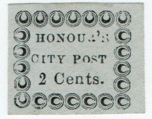 (I.B) US Local Post : Honour's City Post 2c