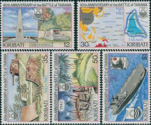 Kiribati 1983 SG210-214 Battle of Tarawa set MLH