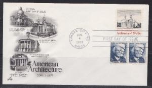 1780 American Architecture Unaddressed ArtCraft FDC