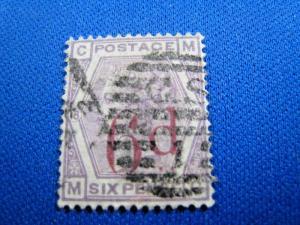 GREAT BRITAIN  -  SCOTT #95  -  Used      (brig)