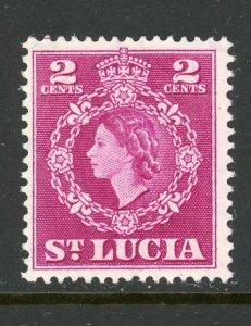 St. Lucia 158 MH 1954
